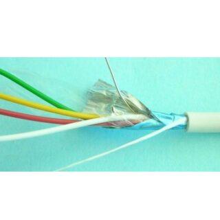Kabel pro EZS VEZ 4X0.22 lanko, stíněný